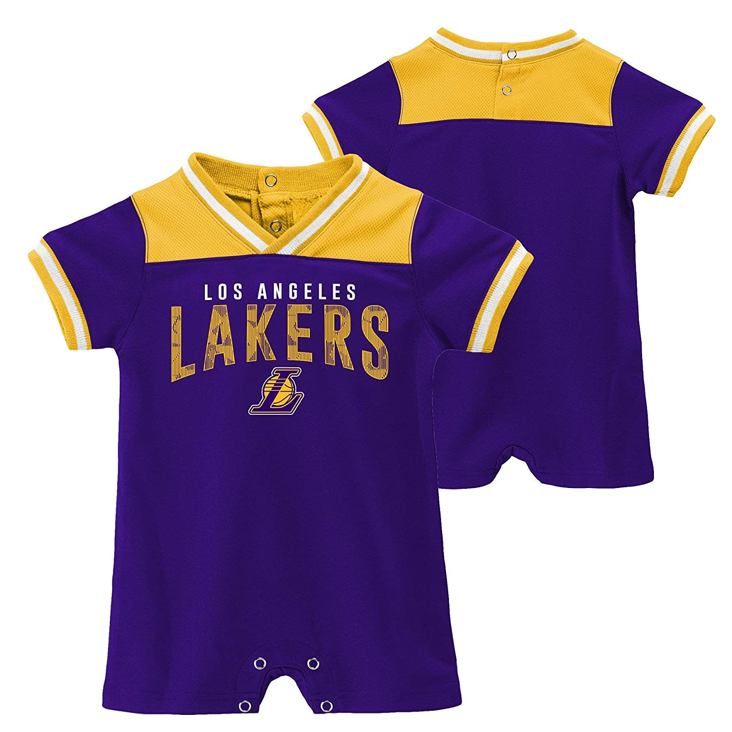 e5a26bdfcf7f Amazon.com  Outerstuff Officially Licensed NBA Los Angeles Lakers Baby  Runback Romper  Clothing