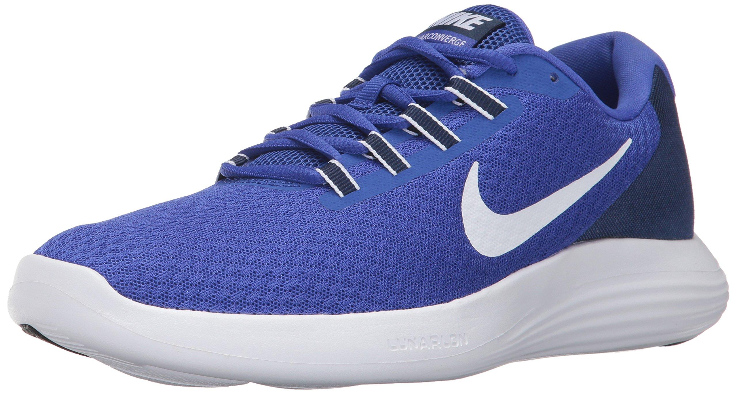 NIKE Men's Lunarconverge Running Shoe, Paramount Blue/White/Binary Blue/Black, 10.5 D(M) US by NIKE