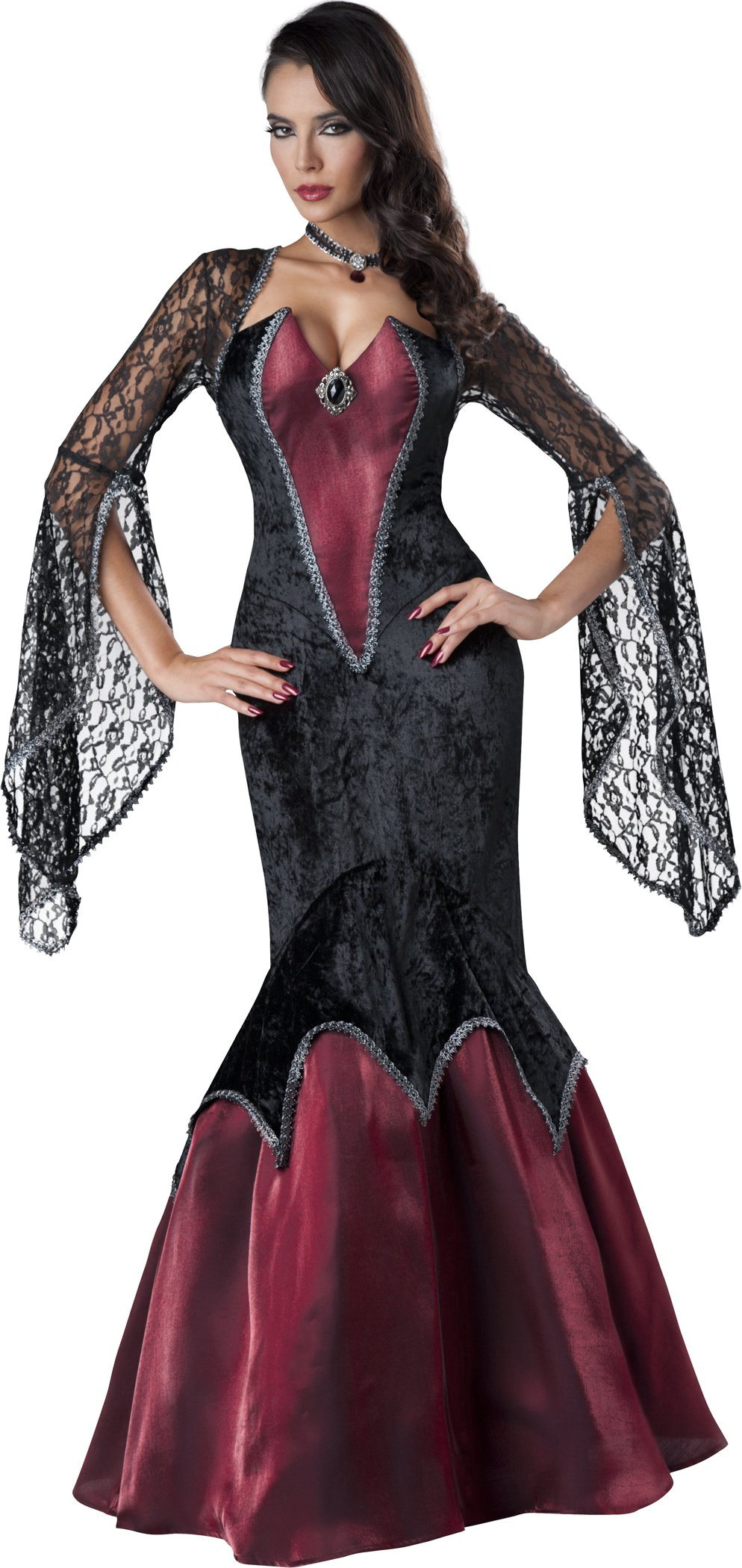InCharacter Costumes Women's Piercing Beauty Vampiress Costume, Black/Red, Small by Fun World