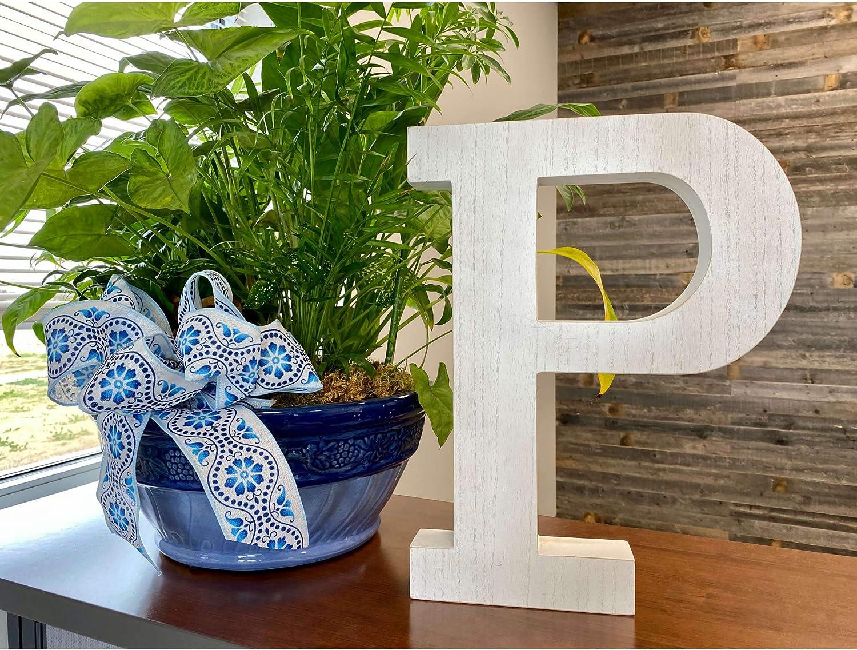 Large Wood Letter |Distressed White Wash | Alphabet Wall Décor | Monogram Letter | Alphabet Letters | Free Standing Letters | Wall Letters | Letter P