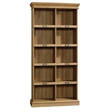 Sauder 414725 Barrister Lane Bookcase, L: 35.55  x W: 13.50  x H: 75.04 , Scribed Oak Finish