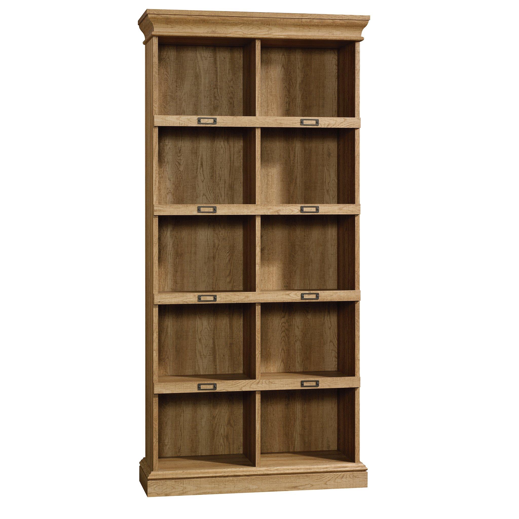 Sauder 414725 Barrister Lane Bookcase, L: 35.55'' x W: 13.50'' x H: 75.04'', Scribed Oak finish by Sauder (Image #1)