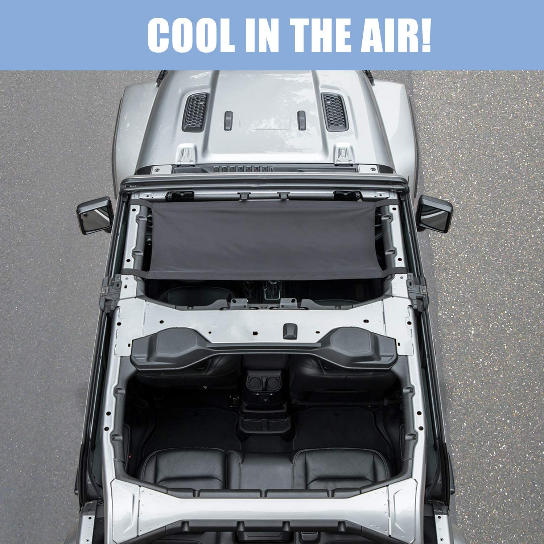 Camoo for Jeep Car Roof Hammock Heavy Duty Waterproof Top Rest Bed for 2007-2020 Jeep Wrangler JK JL