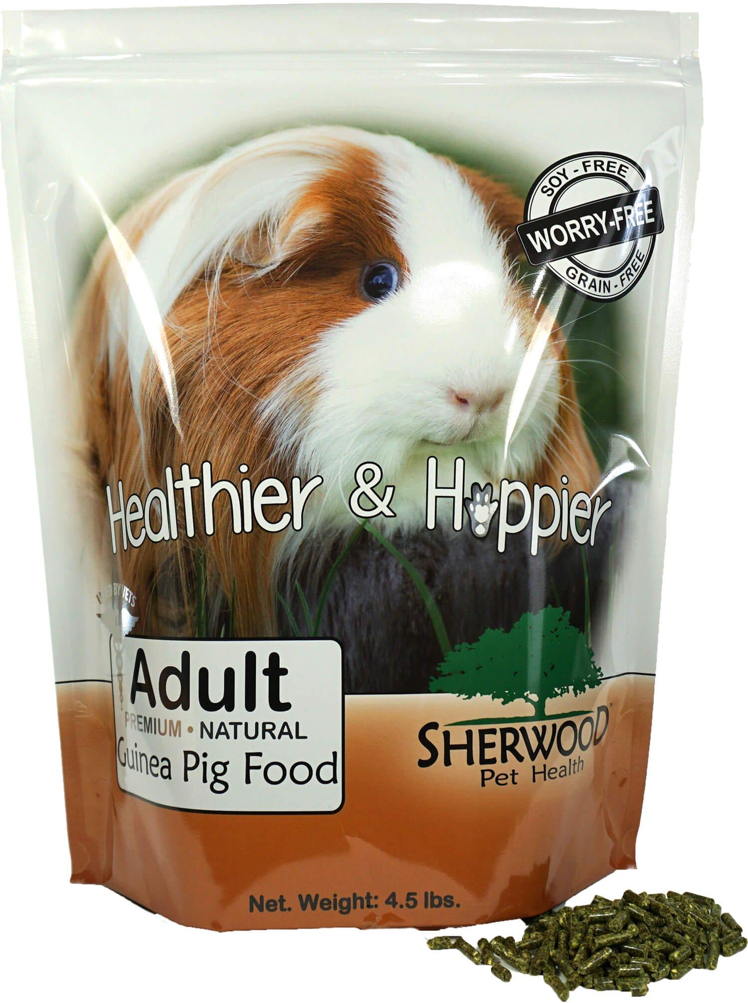 Sherwood Pet Health Guinea Pig Food, Adult by, 4.5 lb. Timothy blend (Grain & Soy-Free) - 4.5 lb. (Vet Used)