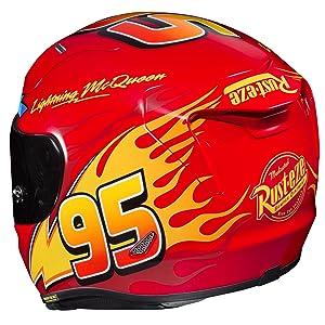 HJC RPHA Unisex-Adult Full Face RPHA-11 Pro PIXAR CARS Lightning McQueen Helmet