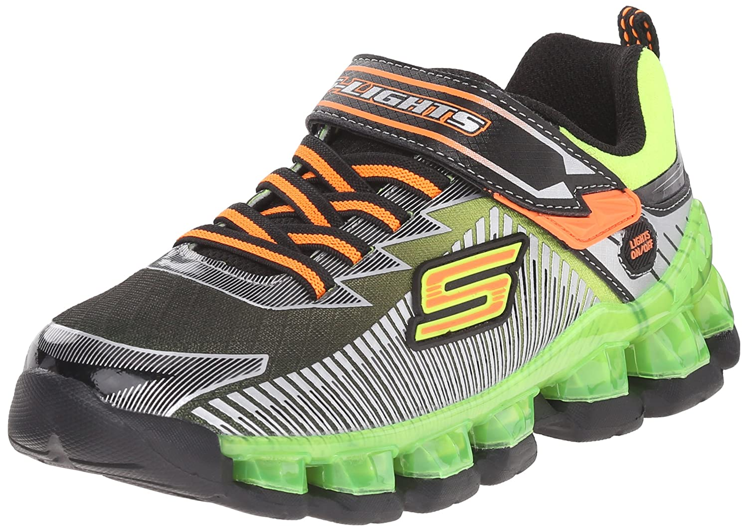 Skechers Kids Flashpod Gore And Strap Light Up Sneaker -
