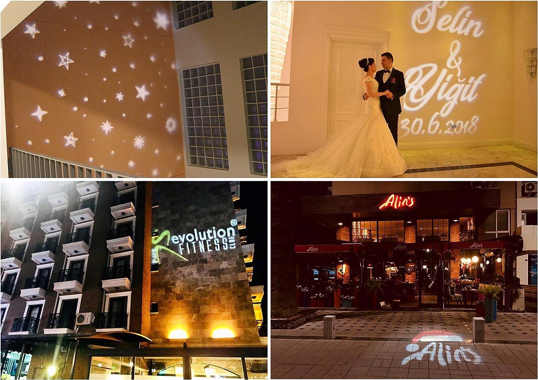 FALKEL Gobo Projector Flash LED GoboJector 100 Pieces Gobos DJ Effect 25W Effect Light Gobo Pen Animated Light Wedding Advertising Event Company Logo Wedding Monogram