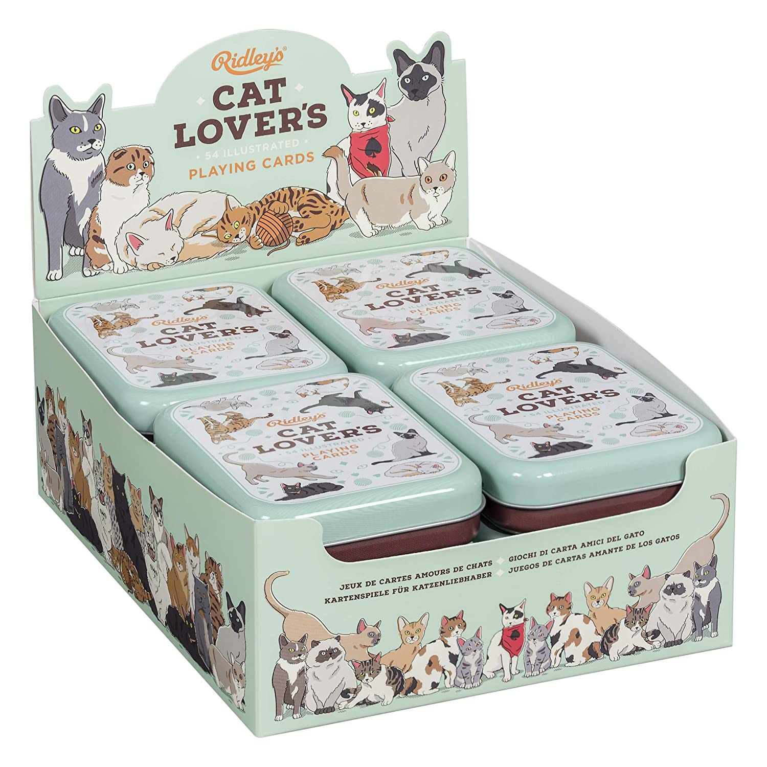 Amazon.com: Ridleys Cat Lovers Deck of 52 Illustated Cat Breed Index Playing Cards: Toys & Games
