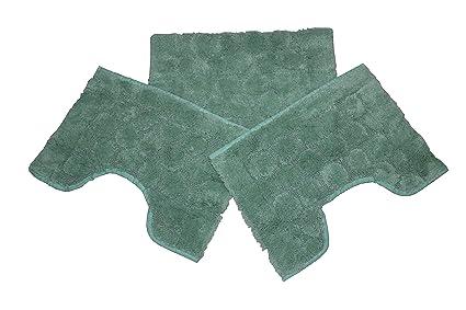 Casa tessile torino set 3 tappeti bagno in spugna cm 60x90 2