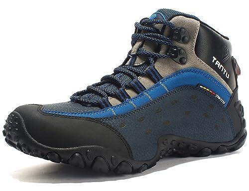 nueva temporada Venta de liquidación 2019 buscar autorización GNEDIAE Zapatillas de Senderismo Hombre Big Size Leather Lace-ups Trail  Camping Sneaker para Outdoor Walking Travel Zapatos Botas de Trabajo 40-46