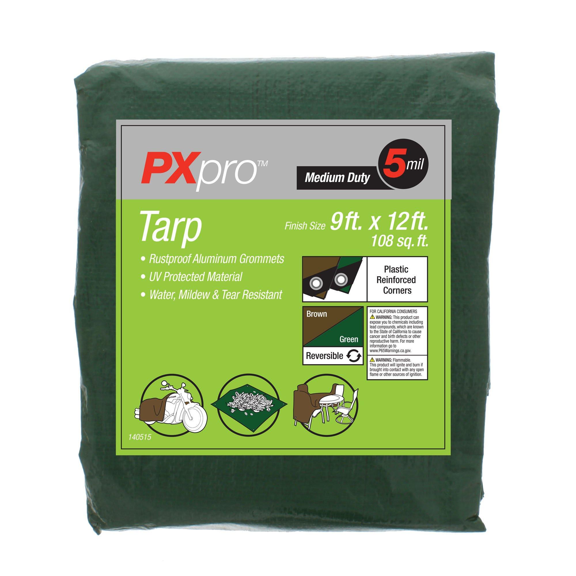 PXpro Medium Duty Tarp 9'X12'