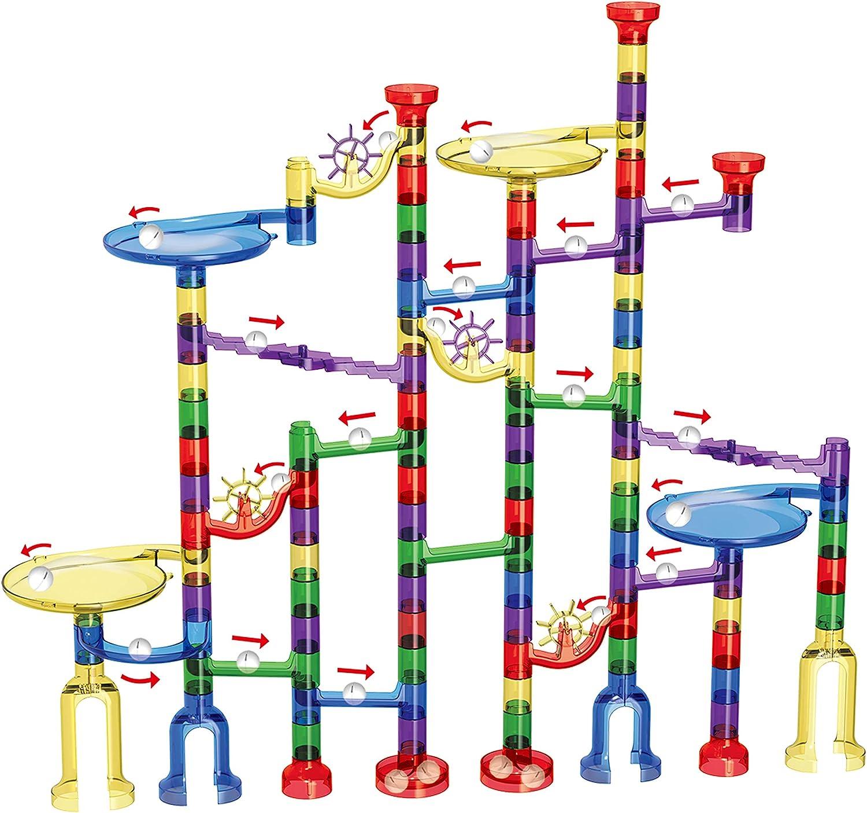 ARSUK Mármol Correr 152 Piezas Toy Marble Race Track Juego de construcción de Juguetes Aprendizaje Educativo para niños y niñas