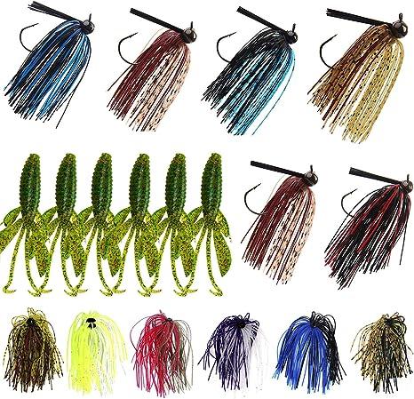 10 ERIE STAND UP WEEDLESS FLIPPIN BASS JIGS 3//8oz  1//2oz  3//4oz Hook Choice