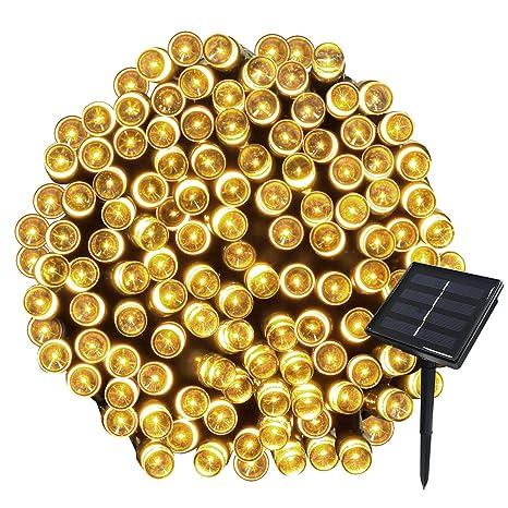 Addobbi Natalizi Da Giardino.Yasolote 22m 200 Led Luci Giardino Solare Luci Da Esterno Luci Stringa Solare Illuminazione Per Addobbi Natalizi Catene Luminosa Decorazione Natalizie