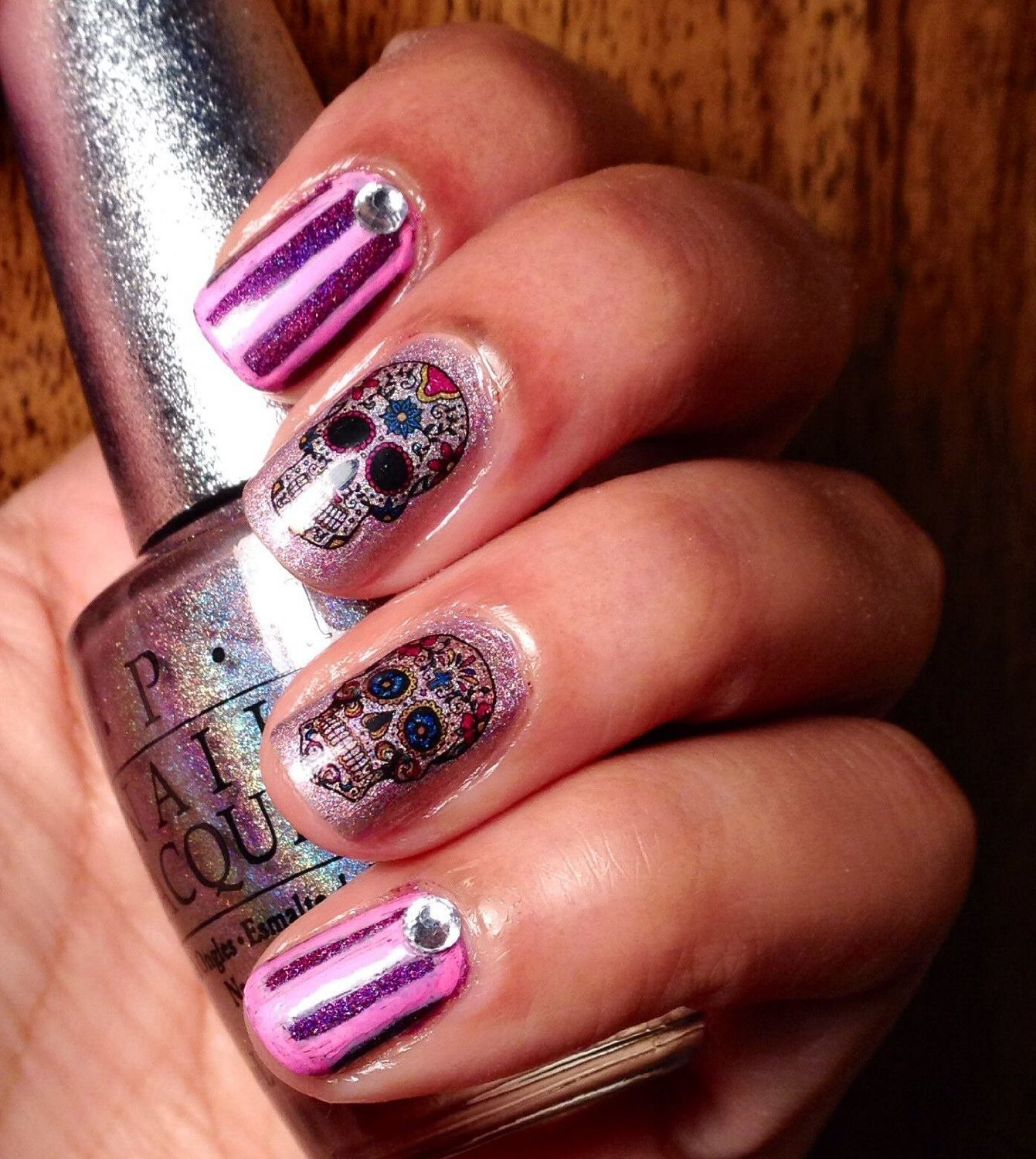 Amazon sugar skull nail art day of the dead decals assortment amazon sugar skull nail art day of the dead decals assortment 2 featured in rachael ray magazine october 2014 beauty prinsesfo Gallery