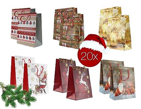 20x Weihnachtstasche Geschenktasche Geschenktute Weihnachtstute
