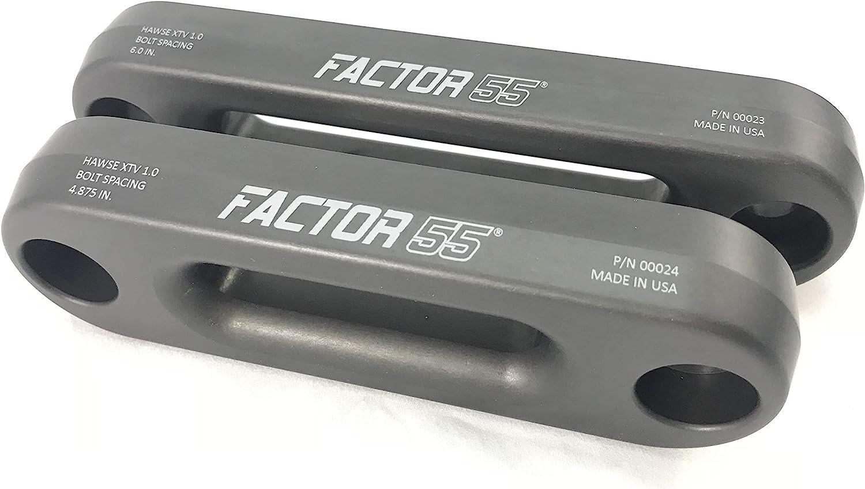 Factor 55 Aluminium Fairlead UTV//ATV Hawe 4.875 Bolt Mount Spacing