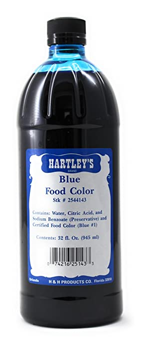 Amazon.com : Hartleys Blue Food Coloring Commercial Grade ...