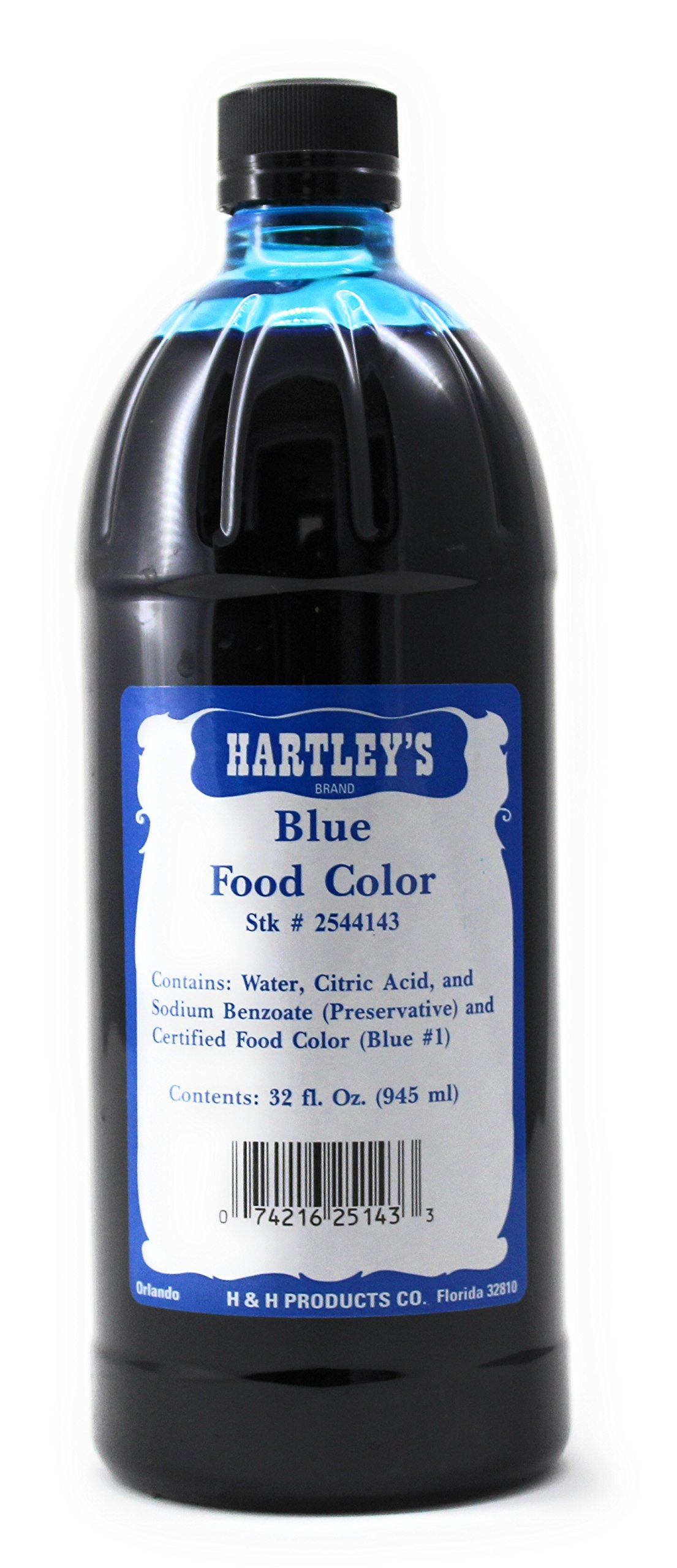 Hartleys Blue Food Coloring Commercial Grade Professional Kitchen Blue Culinary Liquid Color 32 Oz ✡ OU Kosher