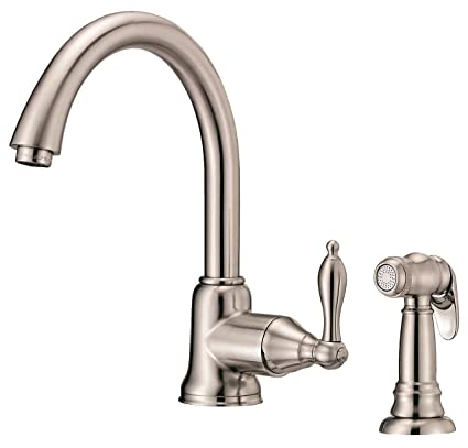 Incroyable Danze D401140SS Fairmont Single Handle Kitchen Faucet With Side Spray,  Stainless Steel