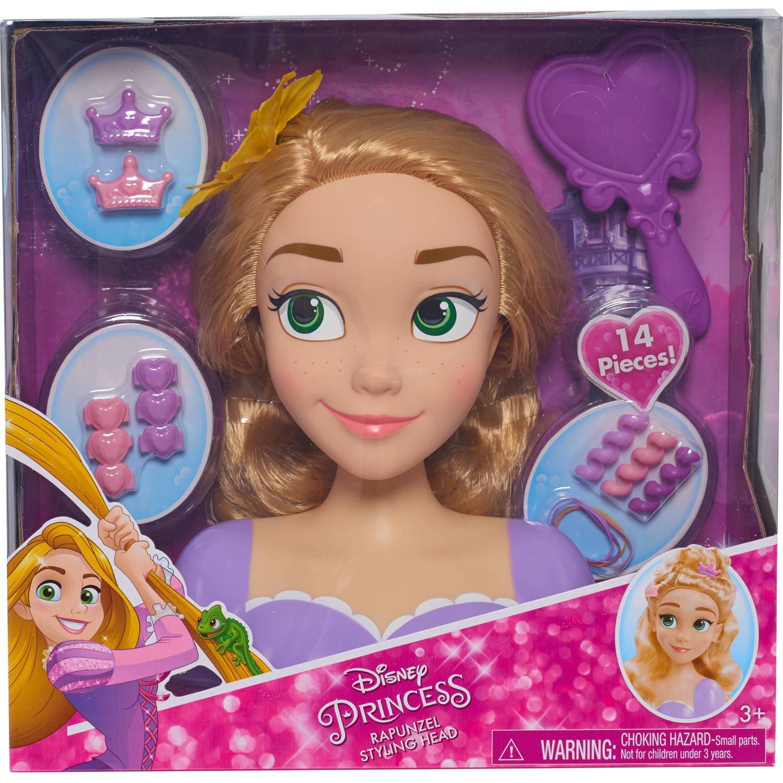 Disney Princess Rapunzel cabeza estilo con los accesorios Just Play 87155 Princesas Disney