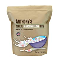Anthony's Cereal Marshmallow Bits, 2 lb, Dehydrated, Assorted Colors & Shapes, Made...