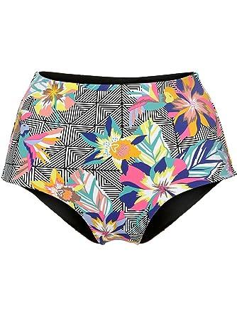 566896eff99 Oneill Black Graphic Small-Pink Rev High Waist Womens Bikini Bottom: ONeill:  Amazon.co.uk: Clothing