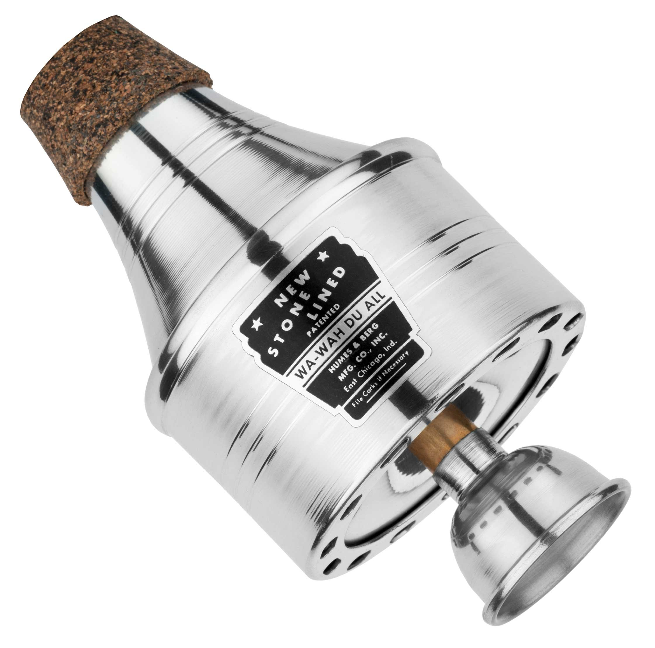 Humes & Berg 111AHP Stonelined Wa-Wah High Polished Aluminum Trumpet Mute