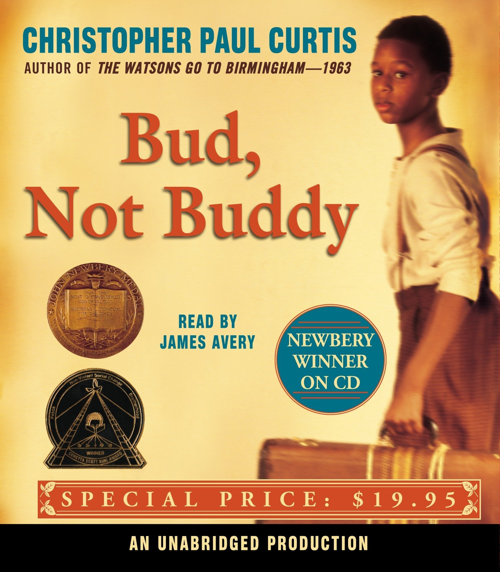 bud not buddy christopher paul curtis james avery 9780739331798