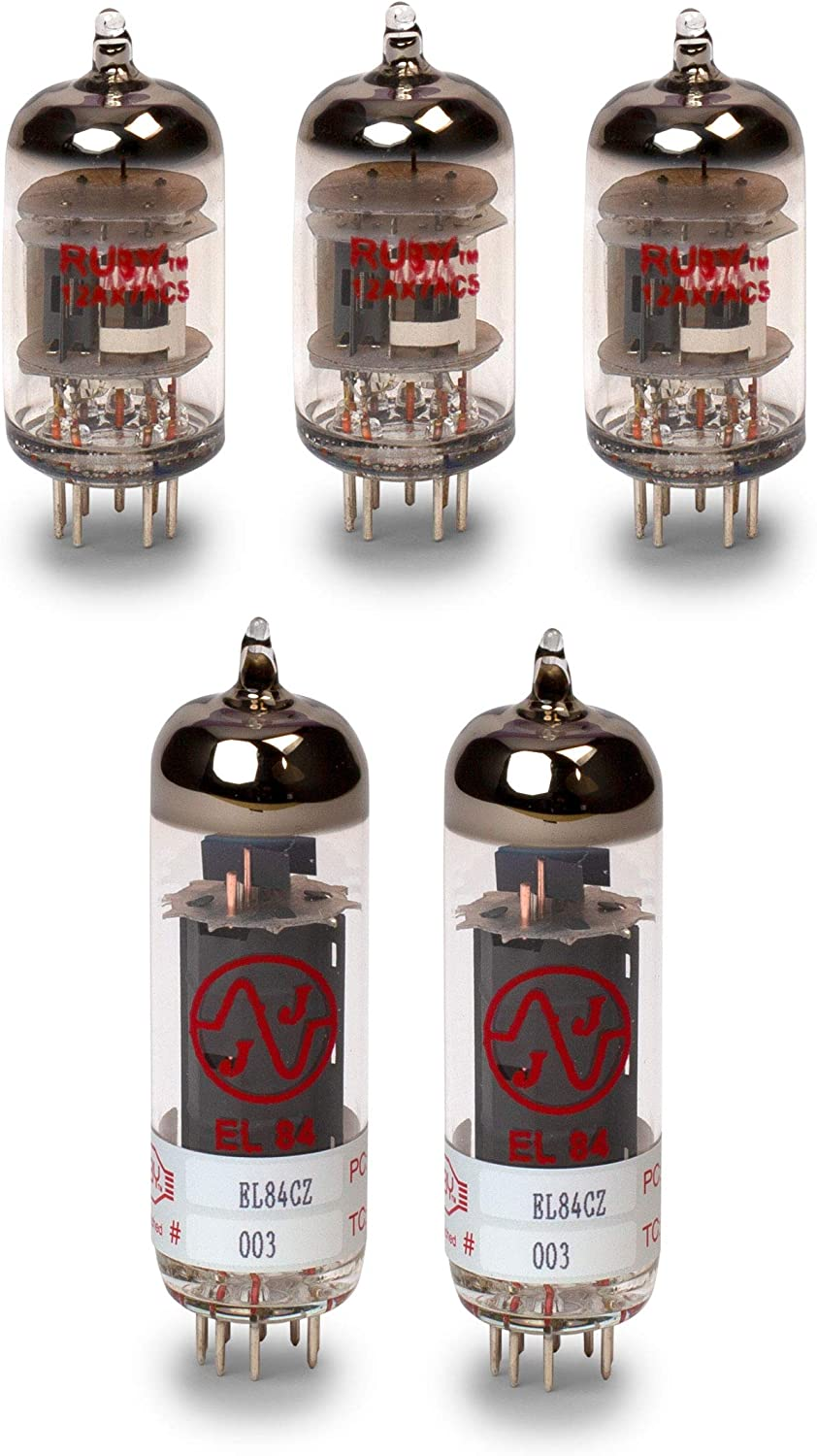 Orange Dark Terror Tube Set with Matched Power Tubes Ruby and JJ Brand Tubes
