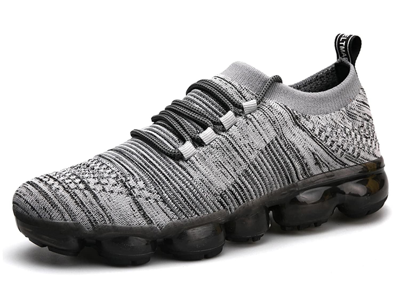 ONEAIR Hombre Zapatos Para Correr Transpirable Air Zapatillas de Running Para Mujer Deportivas Calzado Unisex Adult 44 EU: Fit longitud de pie 270mm|6021 Gris
