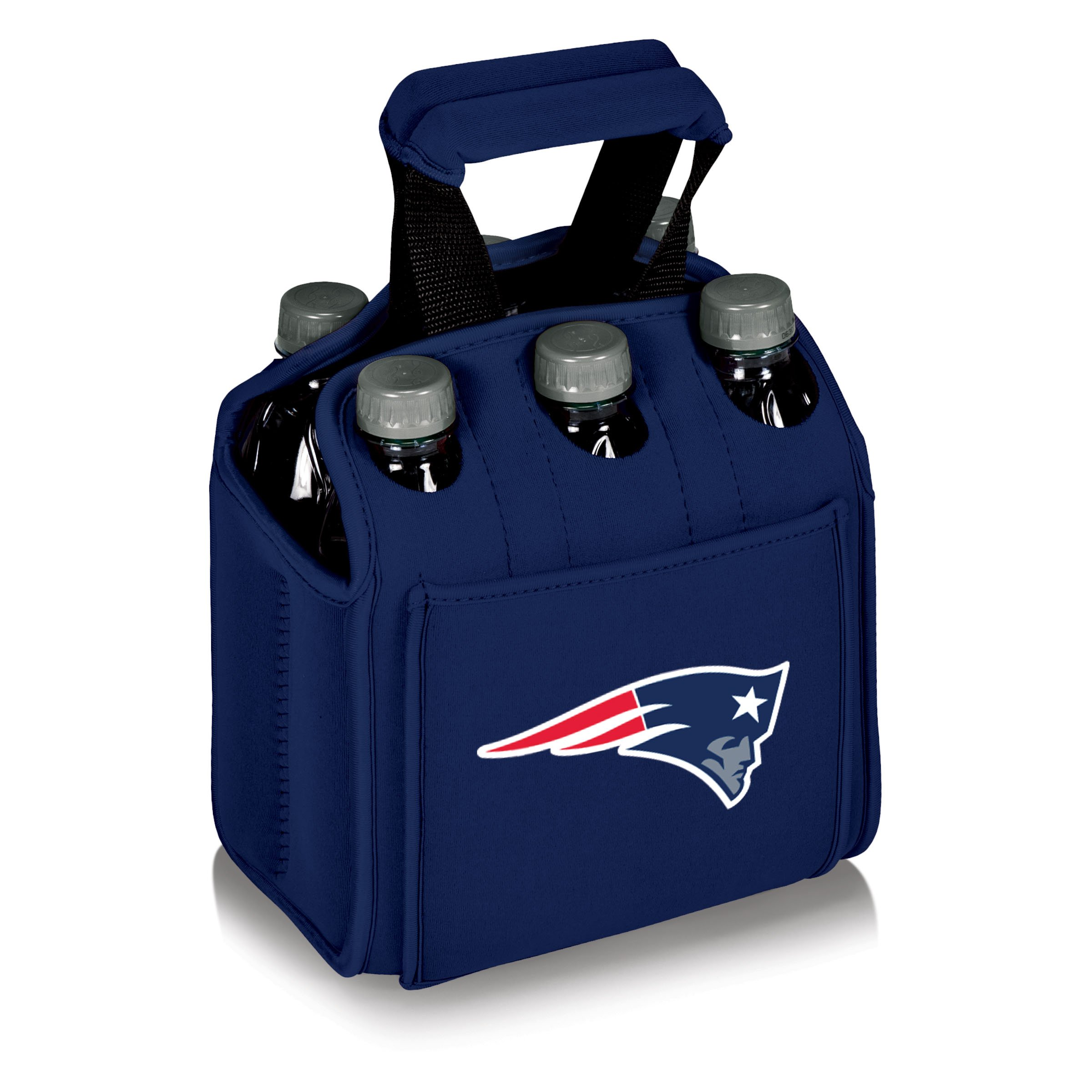 NFL New England Patriots Six Pack Cooler Tote, Navy