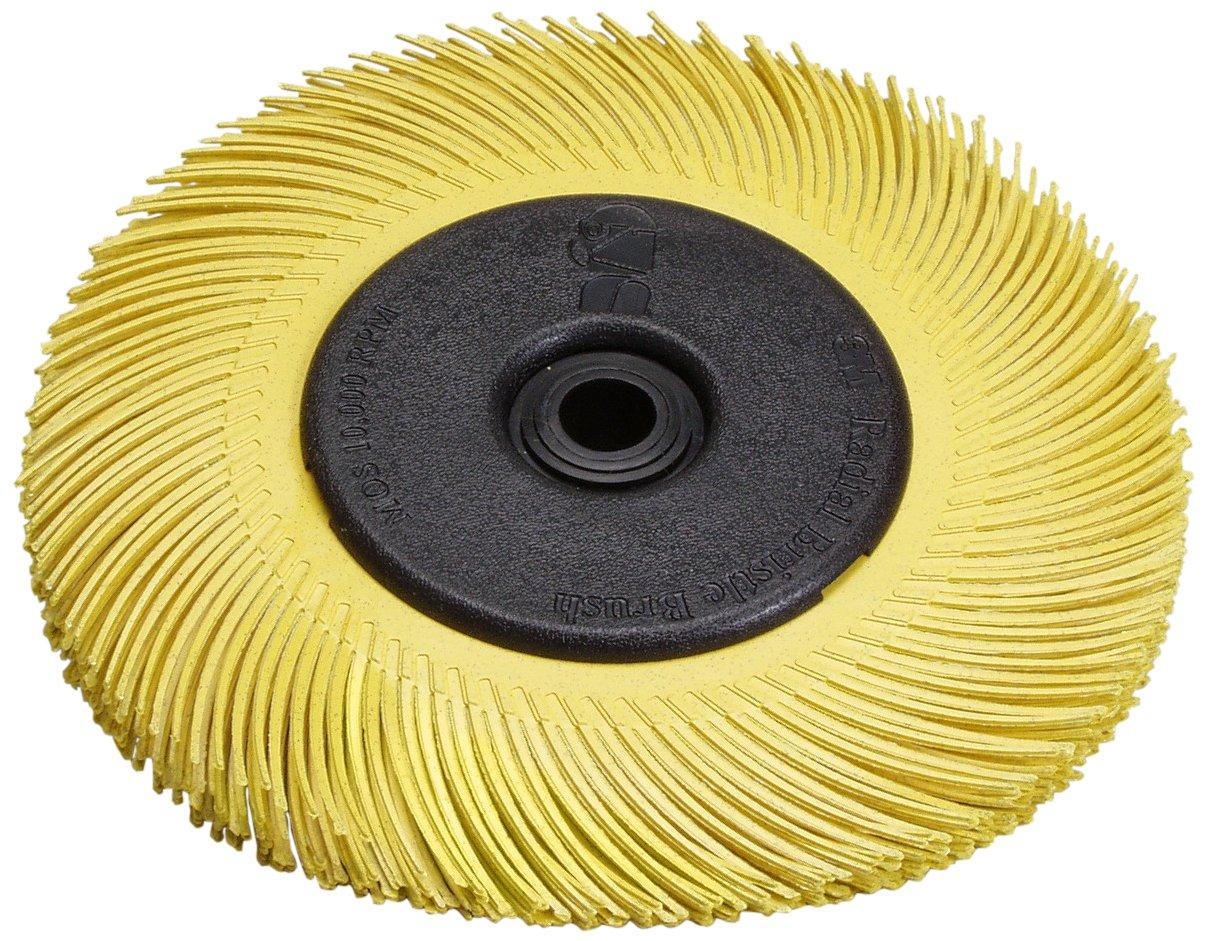 Scotch-Brite(TM) Radial Bristle Brush Replacement Disc T-C 80 Refill, Aluminum Oxide, 6000 rpm, 6 Diameter x 1 Width, Yellow (Pack of 40)