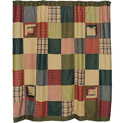 Amazon.com: Lasting Impressions Tea Cabin Shower Curtain Rustic ...