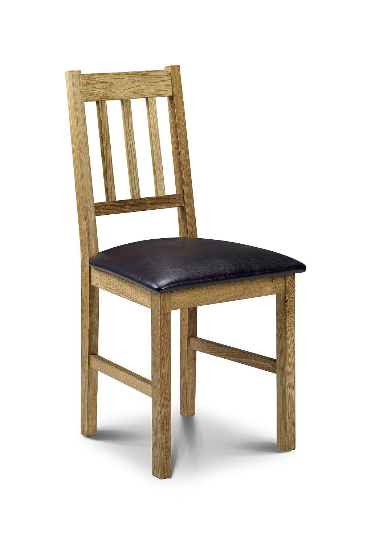 Julian Bowen Coxmoor Solid Oak Dining Chairs, Oak, Brown, Set Of 2:  Amazon.co.uk: Kitchen U0026 Home