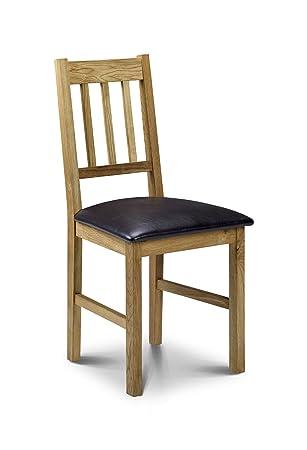 Julian Bowen Coxmoor Oak Dining Chairs Set of  Amazon.uk