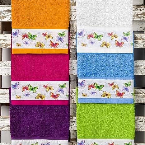 Barceló Hogar 05060080008 Juego 3 toallas con aplique para bidé, lavabo y ducha, modelo