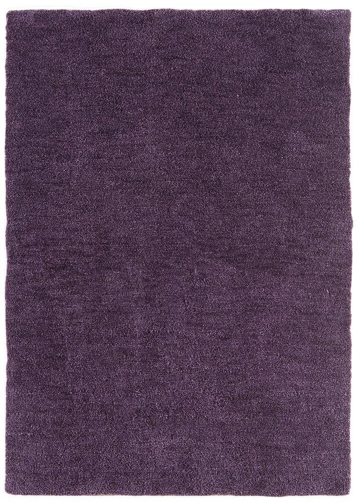 Tula Modern Two Toned Plain Soft Durable Easy Living Polyester Purple Grape Living Room Rugs The Rug House Tula Rug 060x120cm Grape_AS