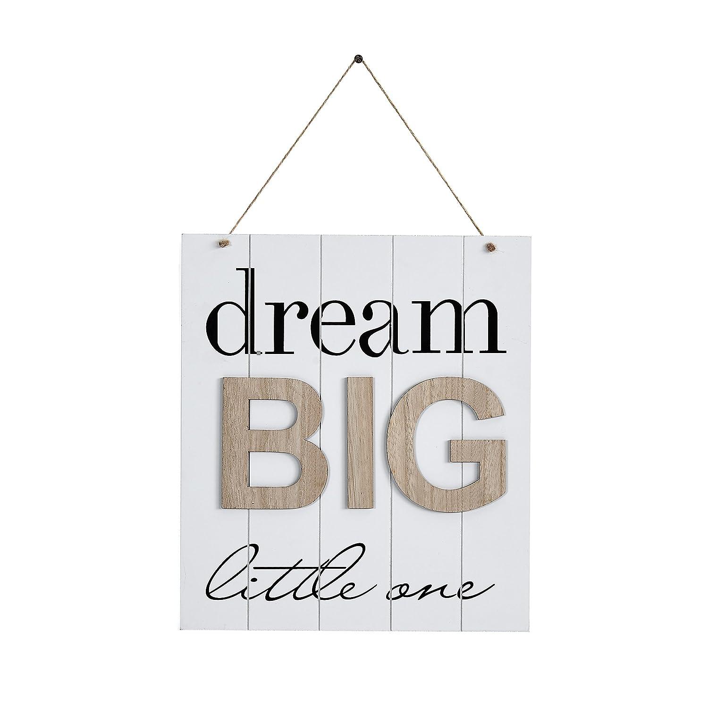 Danya B KS18909B Children's Inspirational Quote Wooden Wall Decor Plaque - Dream Big Little One Danya B.