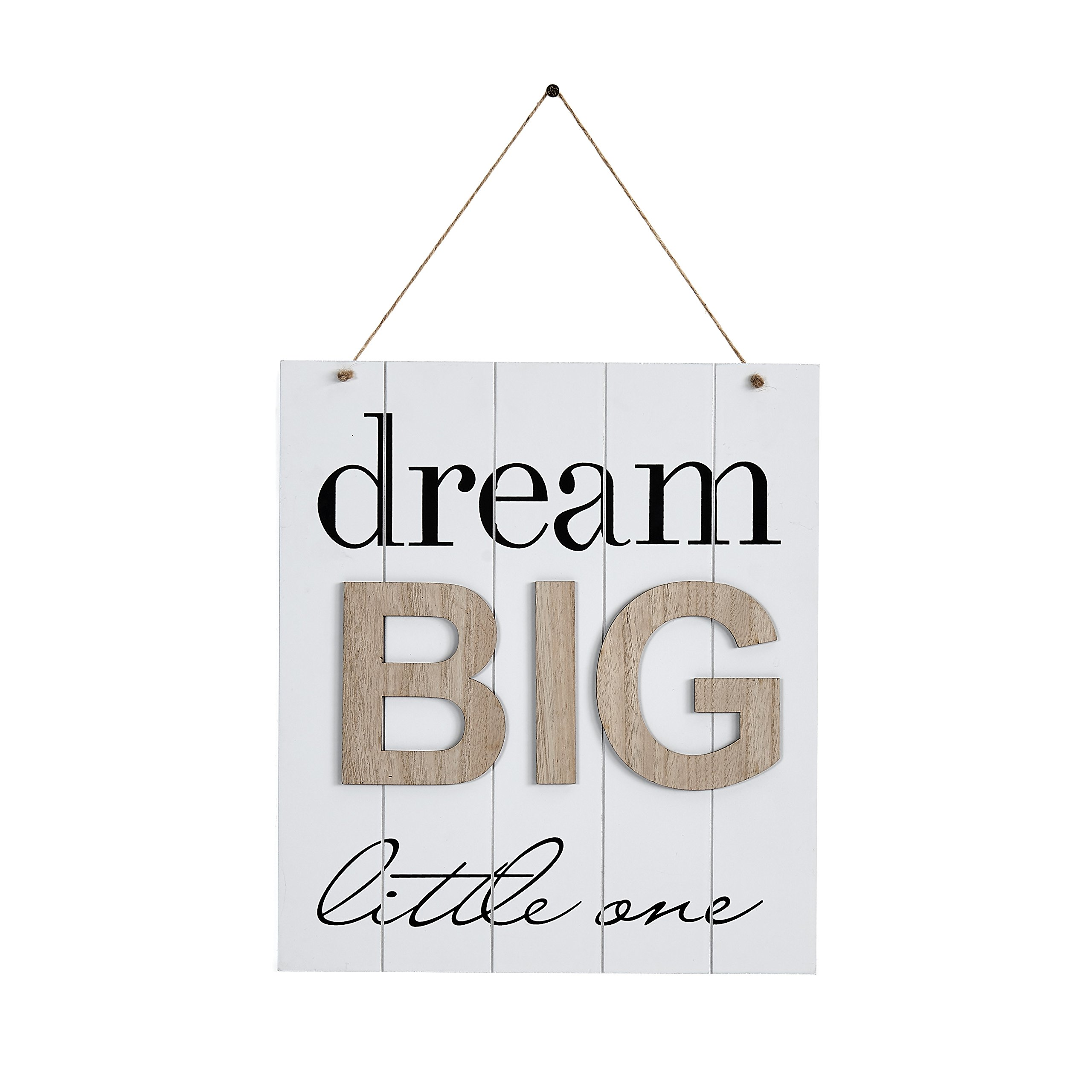 Danya B KS18909B Children's Inspirational Quote Wooden Wall Decor Plaque - Dream Big Little One