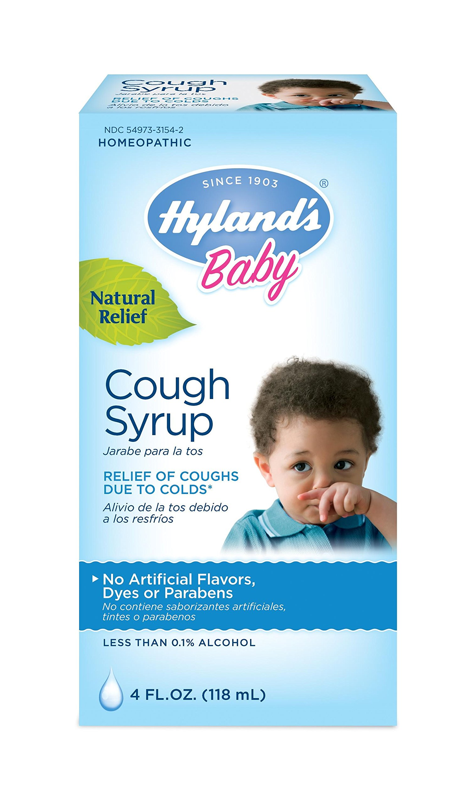 Hyland's Baby Natural Relief Cough Syrup, 4oz. Per Bottle (12 Pack)