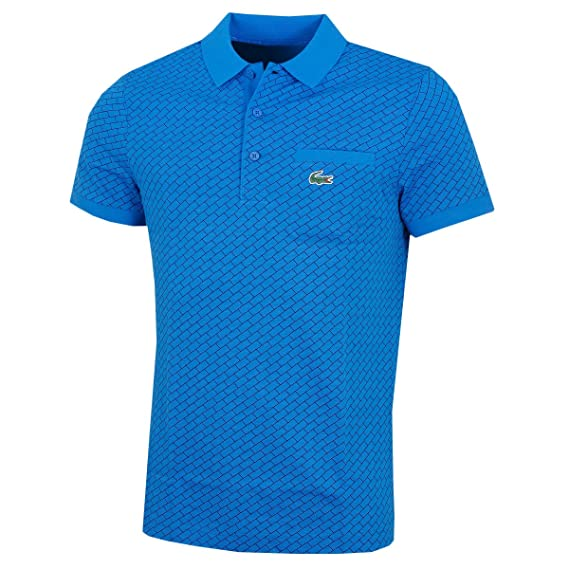 d7c5f47c Lacoste Mens Sport Print Cotton Golf Polo - Blu/Blk - Size 7-2XL:  Amazon.co.uk: Clothing