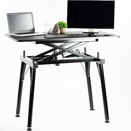 VIVO Black Electric Sit to Stand Height Adjustable Desk Frame Table with Top Complete Standing Workstation 44 x 24 DESK-V100ZE