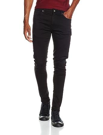 Mens Skinny Jeans, Black, W34/L32 (Manufacturer Size:34 R) Enzo Jeans