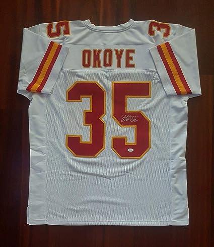 competitive price ec6d5 efef4 Christian Okoye Autographed Jersey - JSA Certified ...