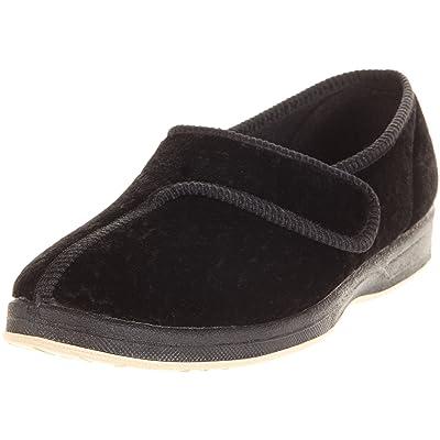 Amazon.com | Foamtreads JEWEL, Black Velour | Slippers