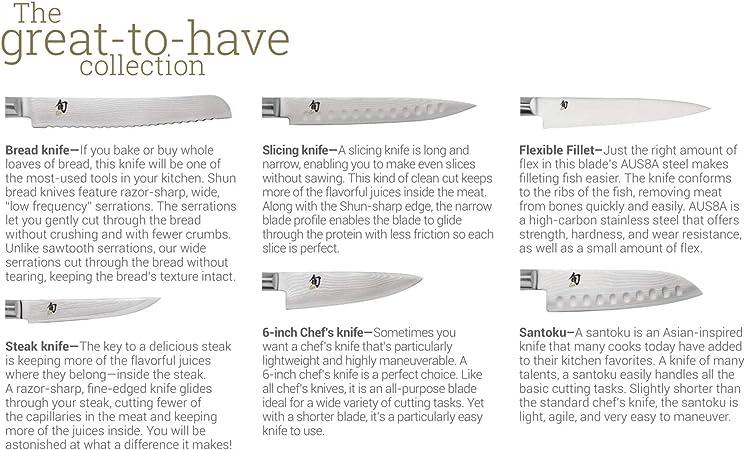 Amazon.com: Shun dm0625 cuchillo Care Kit: Kitchen & Dining
