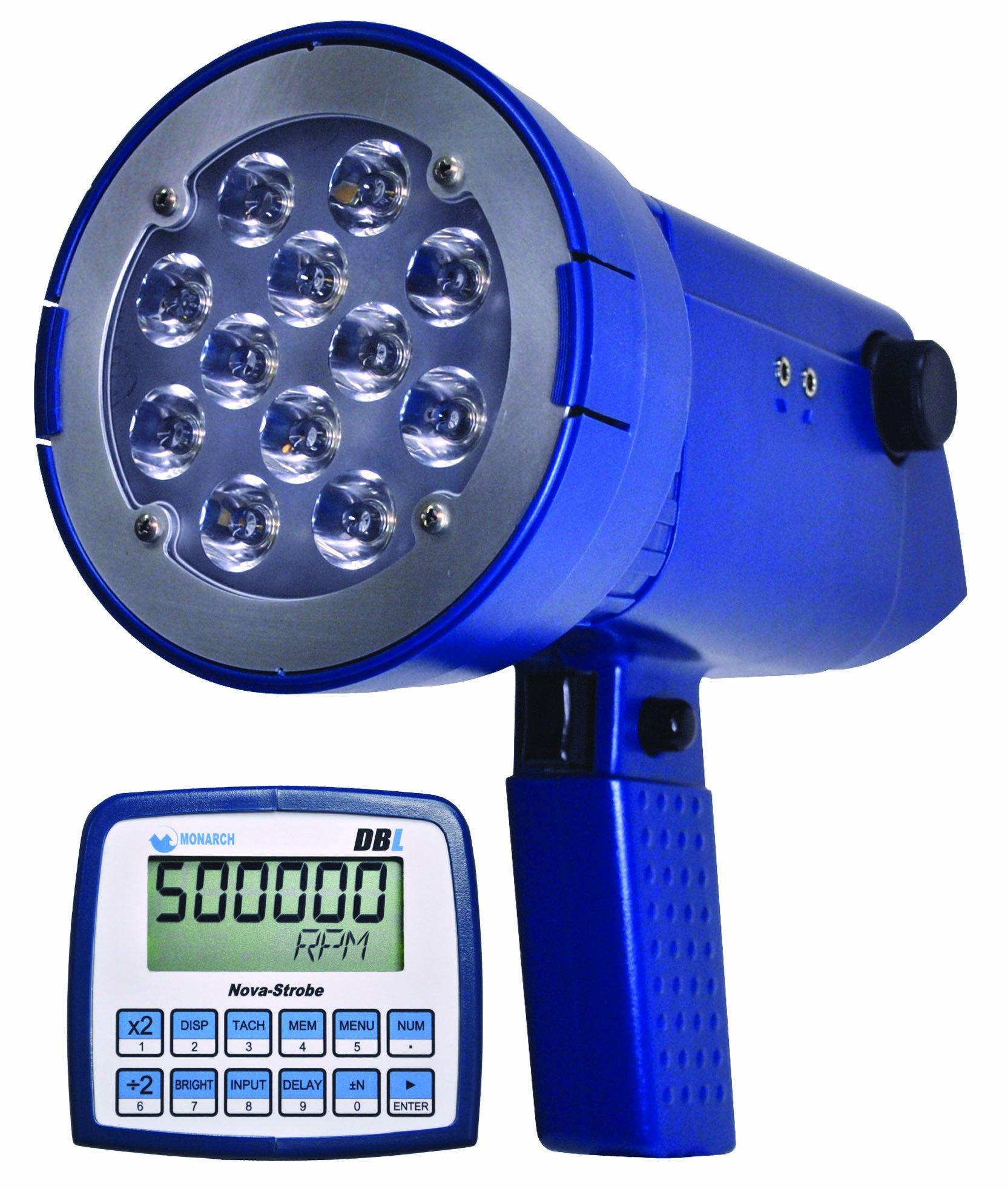 Monarch Nova-Strobe DBL LED Portable Stroboscope, with NIST Certificate of Calibration, 9'' L x 3.66'' W x 3.56'' H