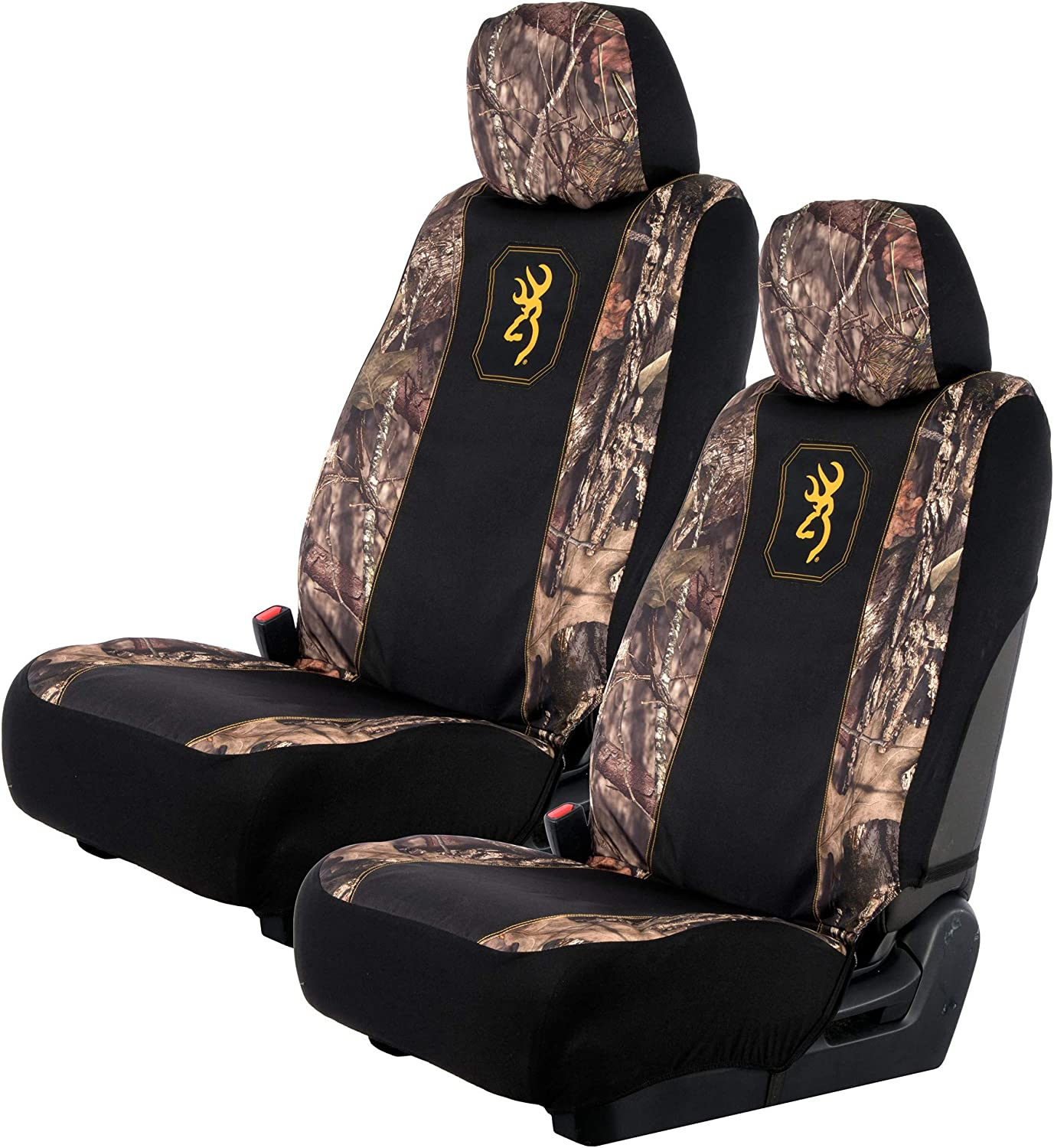 2 Pack Low Back Browning Camo Seat Cover Black//Mint