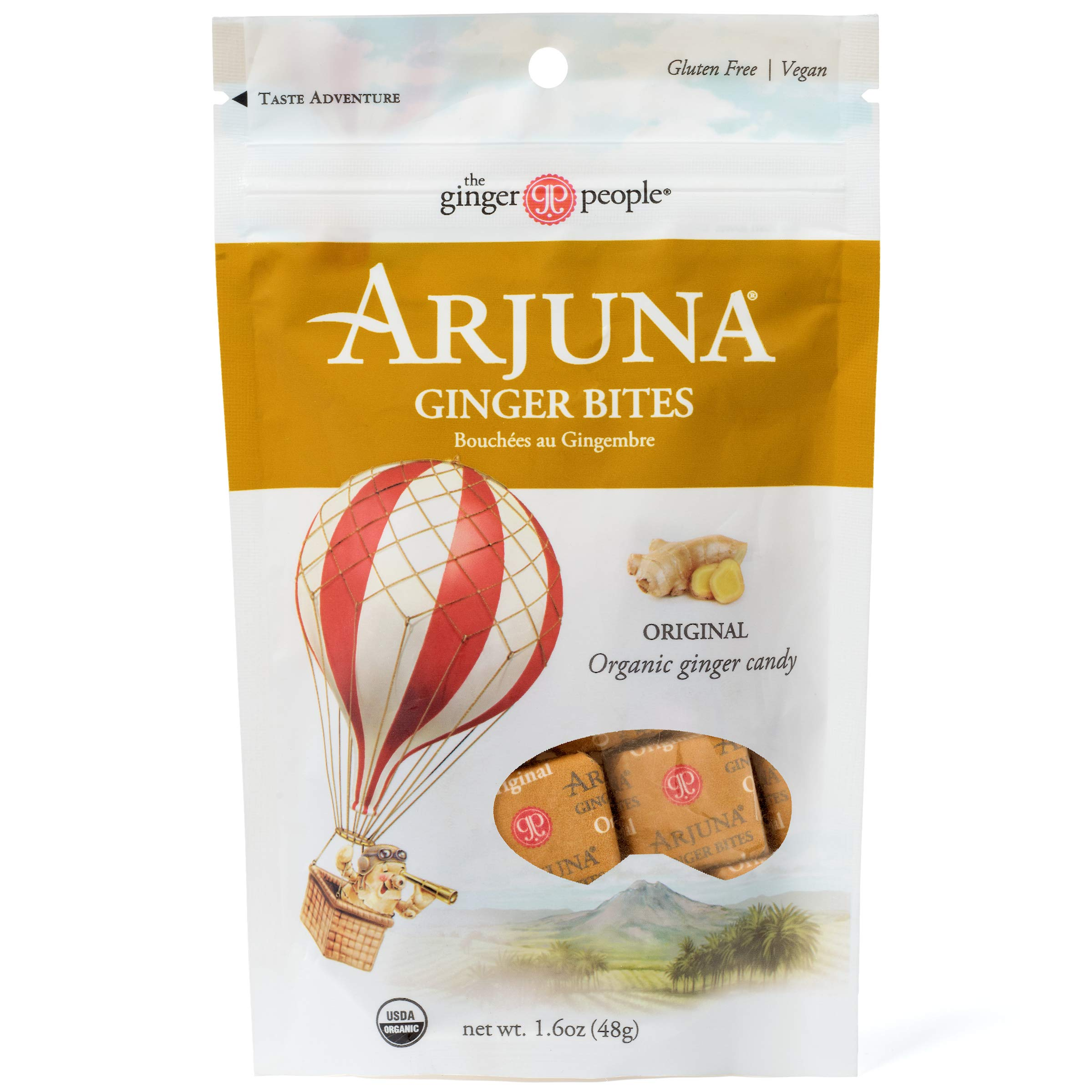 The Ginger People Organic Arjuna Ginger Bites, 1.6 Ounce (Pack of 12) by The Ginger People